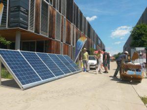 Die Solar-Straße beim Lakeside Park Sommerfest mit 1,5 kWp-Inselanlage