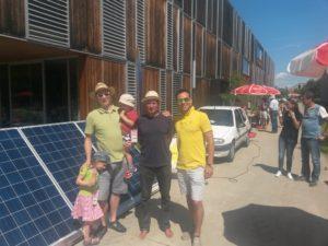 Dr. Michael Jaindl (li.) und DI Christian Garz (re.) von Kärnten Solar versorgten das SOmmerfest des Lakeside Parks mit Sonnenstrom