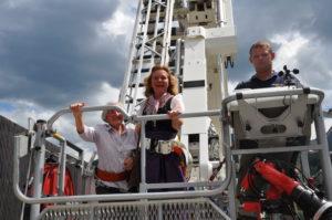 Eröffnung Bürgerkraftwerk Greifenburg 12.07.2014 - Anlagenbesichtigung mittels Hubsteiger